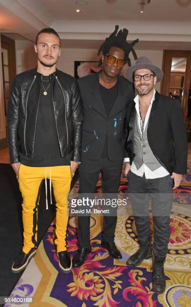 Erik Johansson Bradley Theodore and Laurent Manuel attend the GQ Car Awards 2018 in association with Michelin at Corinthia London on February 5 2018...
