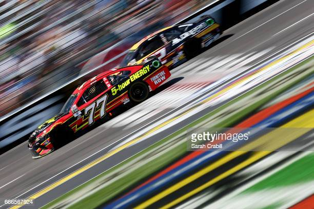 Erik Jones driver of the 5hour ENERGY Extra Strength Toyota races during the Monster Energy NASCAR Cup Series O'Reilly Auto Parts 500 at Texas Motor...