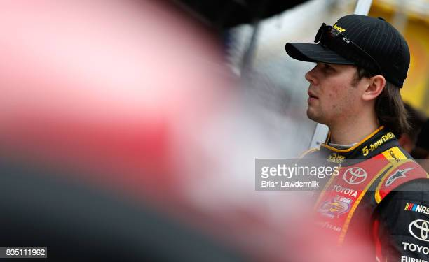 Erik Jones driver of the 5hour ENERGY Extra Strength Toyota stands by his car during practice for the Monster Energy NASCAR Cup Series Bass Pro Shops...