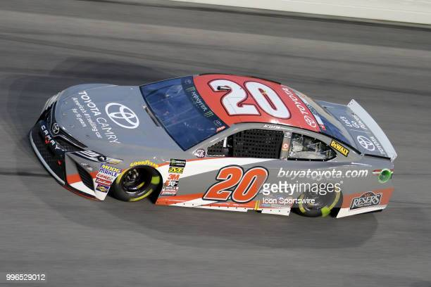 Erik Jones driver of the buyatoyotacom Toyota during the Coke Zero 400 Monster Energy Cup Series race on July 7 at Daytona International Speedway in...