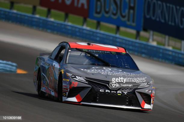 Erik Jones driver of the buyatoyotacom Toyota practices for the Monster Energy NASCAR Cup Series GoBowling at The Glen at Watkins Glen International...