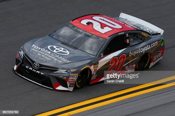 Erik Jones driver of the buyatoyotacom Toyota practices for the Monster Energy NASCAR Cup Series Coke Zero Sugar 400 at Daytona International...