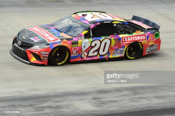 Erik Jones driver of the CRAFTSMAN Racing for a Miracle Toyota practices for the Monster Energy NASCAR Cup Series Food City 500 at Bristol Motor...