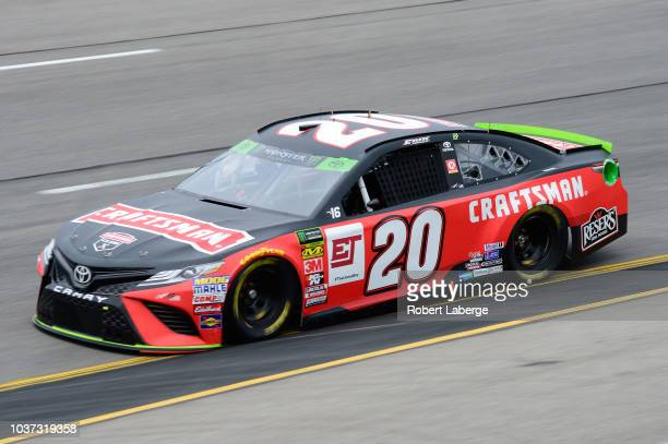 Erik Jones driver of the Craftsman Toyota drives during practice for the Monster Energy NASCAR Cup Series Federated Auto Parts 400 at Richmond...