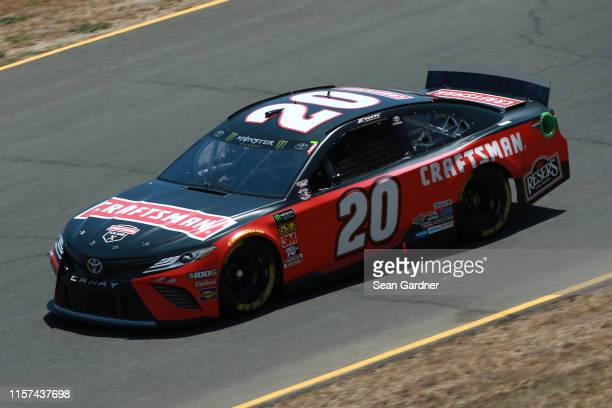 Erik Jones driver of the Craftsman Toyota practices for the Monster Energy NASCAR Cup Series Toyota/Save Mart 350 at Sonoma Raceway on June 21 2019...