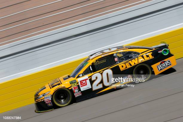 Erik Jones driver of the DeWalt Toyota drives during practice for the Monster Energy NASCAR Series South Point Hotel and Casino 400 at Las Vegas...