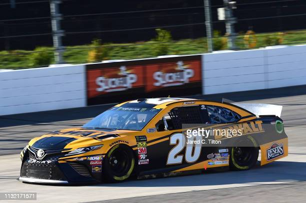 Erik Jones driver of the DeWalt Toyota drives during practice for the Monster Energy NASCAR Cup Series STP 500 at Martinsville Speedway on March 23...