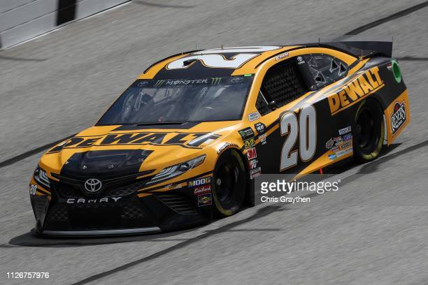 Erik Jones driver of the DeWalt Toyota during practice for the Monster Energy NASCAR Cup Series Folds of Honor Quiktrip 500 at Atlanta Motor Speedway...