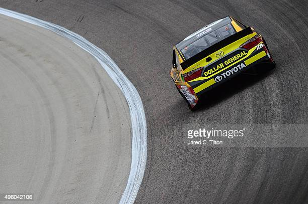 Erik Jones driver of the DeWalt Toyota practices for the NASCAR Sprint Cup Series AAA Texas 500 at Texas Motor Speedway on November 6 2015 in Fort...