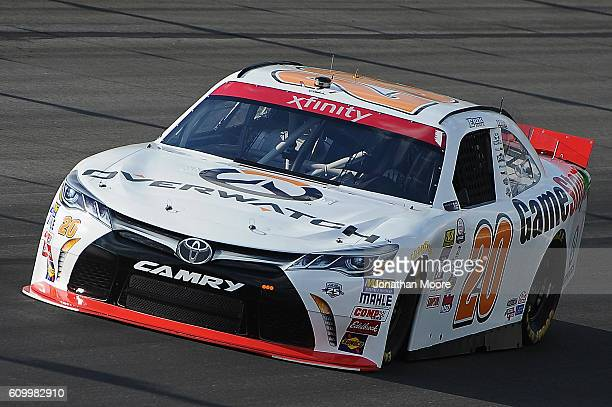 Erik Jones driver of the GameStop Toyota on track during practice for the NASCAR XFINITY Series VysitMyrtleBeachcom 300 at Kentucky Speedway on...