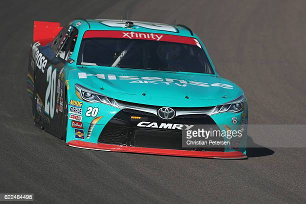 Erik Jones driver of the Hisense Toyota practices for the NASCAR XFINITY Series Ticket Galaxy 200 at Phoenix International Raceway on November 11...