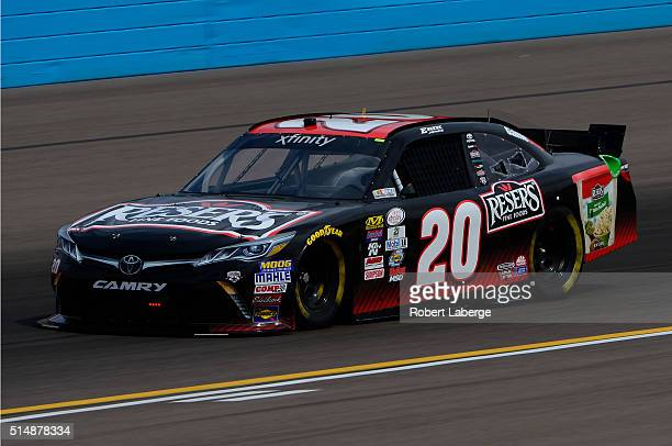 Erik Jones driver of the Reser's Fine Foods Toyota drives during practice for the NASCAR XFINITY Series Axalta Faster Tougher Brighter 200 at Phoenix...