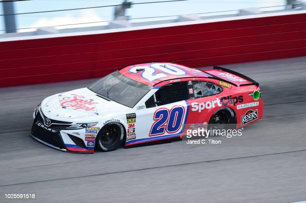 Erik Jones driver of the Sport Clips Throwback Toyota drives during practice for the Monster Energy NASCAR Cup Series Bojangles' Southern 500 at...