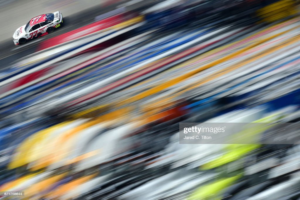 Erik Jones, driver of the #77 Sport Clips Toyota, drives during practice for the Monster Energy NASCAR Cup Series Food City 500 at Bristol Motor Speedway on April 21, 2017 in Bristol, Tennessee.
