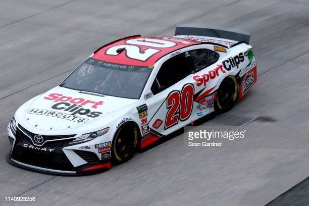 Erik Jones driver of the Sport Clips Toyota practices for the Monster Energy NASCAR Cup Series Gander RV 400 at Dover International Speedway on May 3...