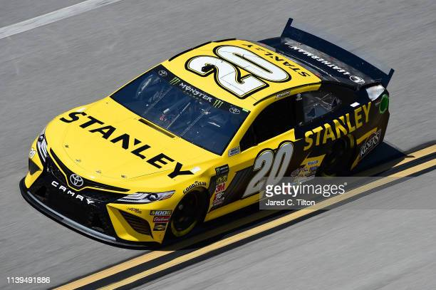 Erik Jones driver of the STANLEY Toyota practices for the Monster Energy NASCAR Cup Series GEICO 500 at Talladega Superspeedway on April 26 2019 in...