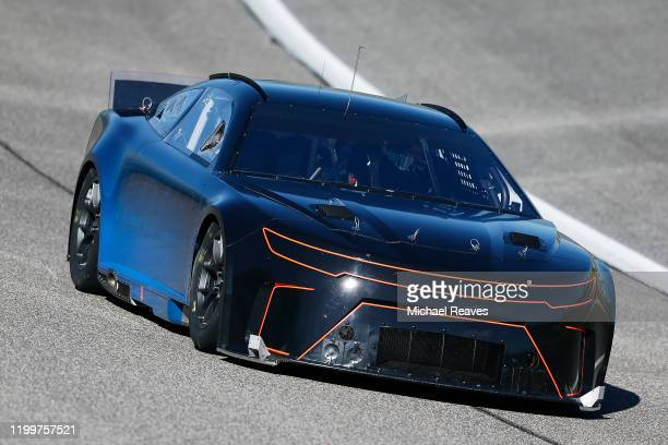 Erik Jones tests the Next Gen car at Homestead-Miami Speedway on January 15, 2020 in Homestead, Florida.