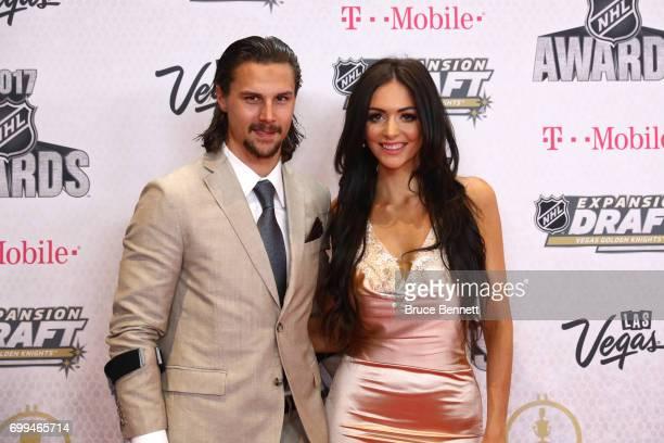 Erik Karlsson of the Ottawa Senators and Melinda Currey attend the 2017 NHL Awards at TMobile Arena on June 21 2017 in Las Vegas Nevada