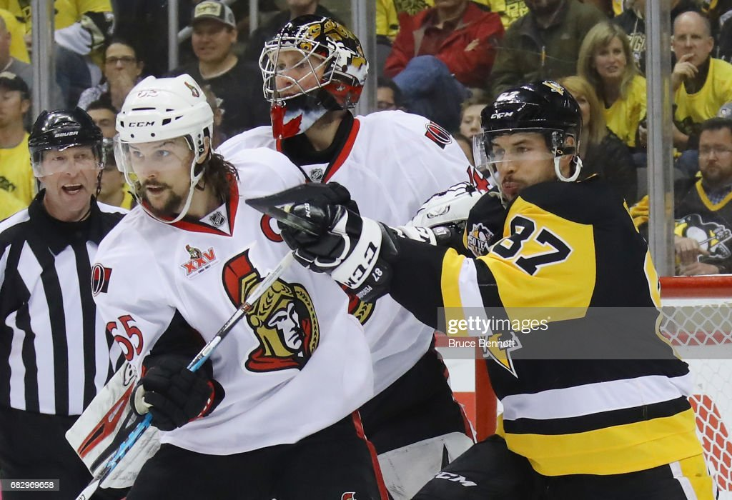 Ottawa Senators v Pittsburgh Penguins - Game One : News Photo