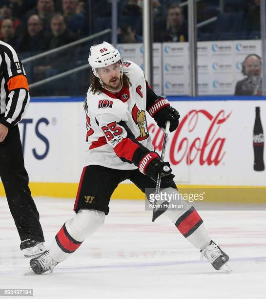 Erik Karlsson of the Ottawa Senators during the game against the Buffalo Sabres at the KeyBank Center on December 12 2017 in Buffalo New York