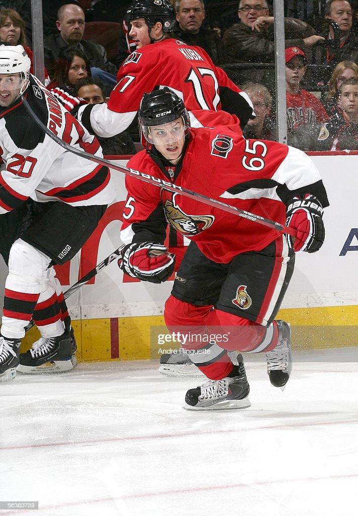 wholesale dealer 1813e c7e64 Erik Karlsson of the Ottawa Senators skates against the New ...