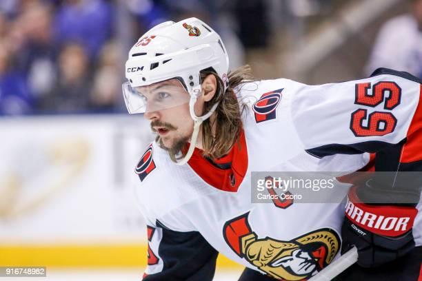 TORONTO ON FEBRUARY 10 Erik Karlsson of the Senators during the 1st period of NHL action as the Toronto Maple Leafs host the Ottawa Senators at the...