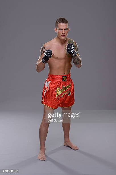 Erik Koch poses for a portrait during a UFC photo session on February 20 2014 in Las Vegas Nevada