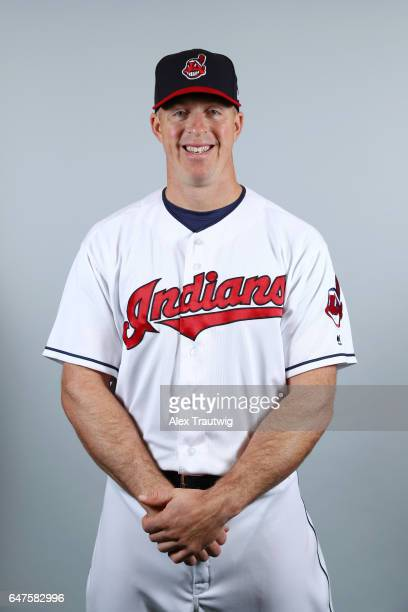 Erik Kratz of the Cleveland Indians poses during Photo Day on Friday February 24 2017 at Goodyear Ballpark in Goodyear Arizona