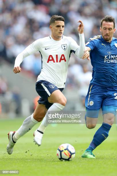 Erik Lamela of Tottenham during the Premier League match between Tottenham Hotspur and Leicester City at Wembley Stadium on May 13 2018 in London...