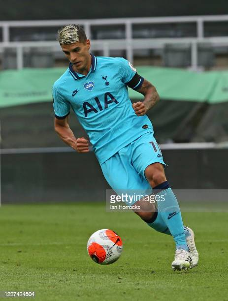 Erik Lamela of Tottenham Hotspur during the Premier League match between Newcastle United and Tottenham Hotspur at St James Park on July 15 2020 in...