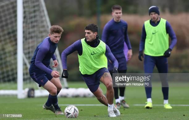 Erik Lamela of Tottenham Hotspur during the Tottenham Hotspur training session at Tottenham Hotspur Training Centre on January 03, 2020 in Enfield,...