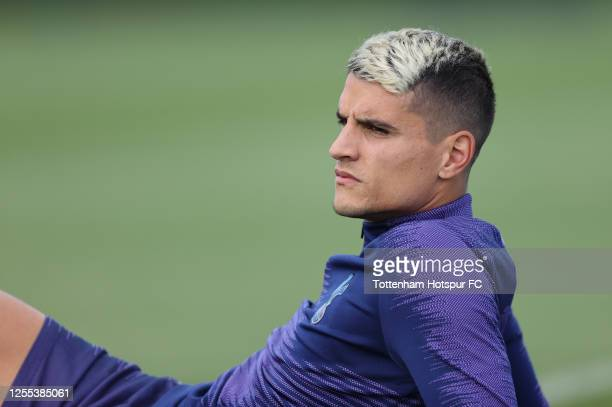Erik Lamela of Tottenham Hotspur during the Tottenham Hotspur training session at Tottenham Hotspur Training Centre on July 10 2020 in Enfield England