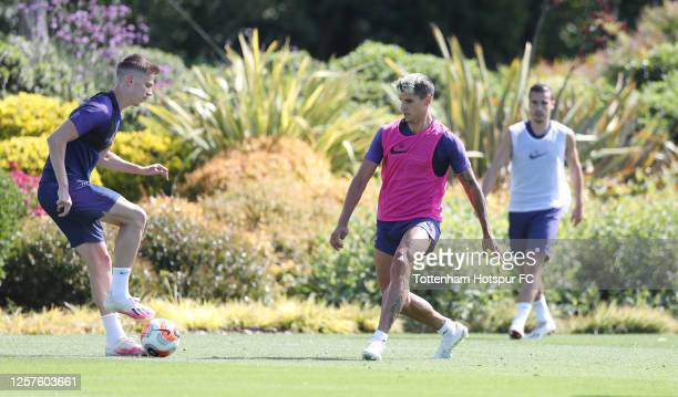 Erik Lamela of Tottenham Hotspur during the Tottenham Hotspur training session at Tottenham Hotspur Training Centre on July 22, 2020 in Enfield,...