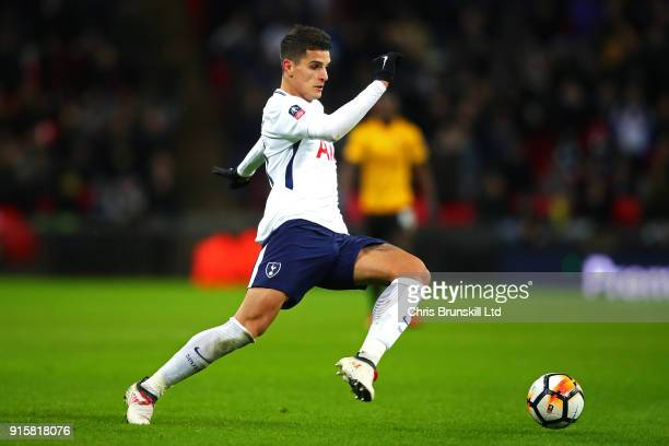 Erik Lamela of Tottenham Hotspur in action during the Emirates FA Cup Fourth Round Replay between Tottenham Hotspur and Newport County at Wembley...