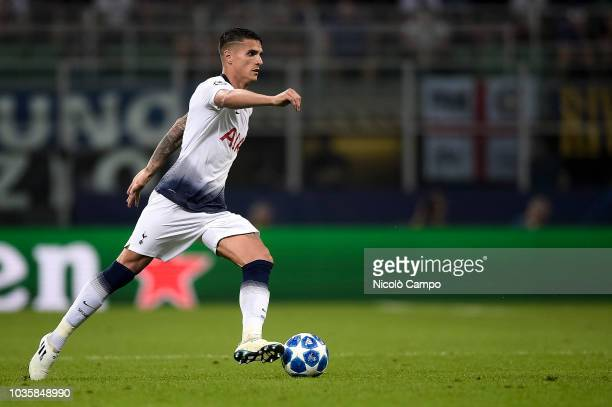Erik Lamela of Tottenham Hotspur in action during the UEFA Champions League football match between FC Internazionale and Tottenham Hotspur FC...