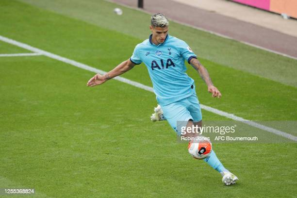 Erik Lamela of Tottenham Hotspur on the ball during the Premier League match between AFC Bournemouth and Tottenham Hotspur at Vitality Stadium on...