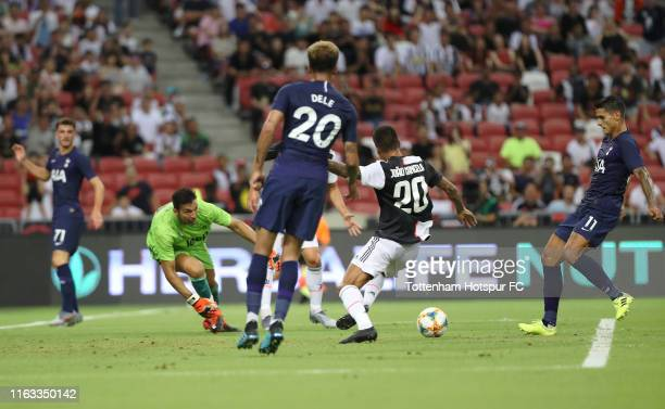 Erik Lamela of Tottenham Hotspur scores his side's first goal during the International Champions Cup match between Juventus and Tottenham Hotspur at...