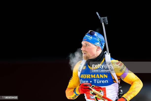 Erik Lesser of Germany competes during the Mens 4x7.5 km Relay Competition at the BMW IBU World Cup Biathlon Oestersund at Swedish National Biathlon...