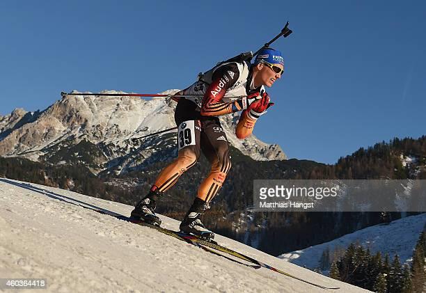 Erik Lesser of Germany competes in the men's 10 km sprint event during the IBU Biathlon World Cup on December 12 2014 in Hochfilzen Austria