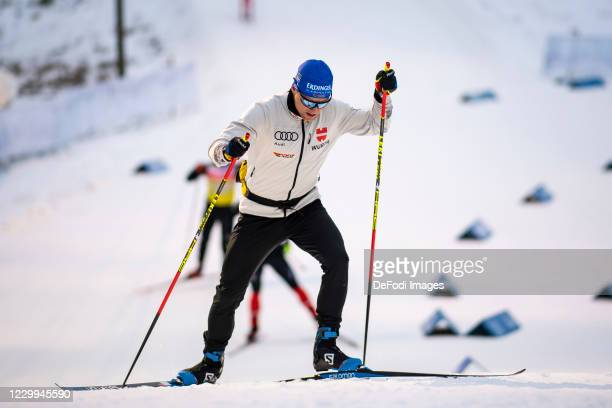 Erik Lesser of Germany in action competes during a training session ahead of the BMW IBU World Cup Biathlon Kontiolahti at on December 4, 2020 in...