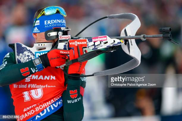 Erik Lesser of Germany in action during the IBU Biathlon World Cup Men's and Women's Mass Start on December 17, 2017 in Le Grand Bornand, France.