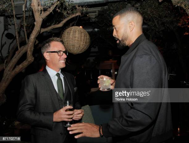 Erik Logan and Timon Kyle Durrett attend the taping of 'Queen Sugar AfterShow' after party on November 7 2017 in Los Angeles California