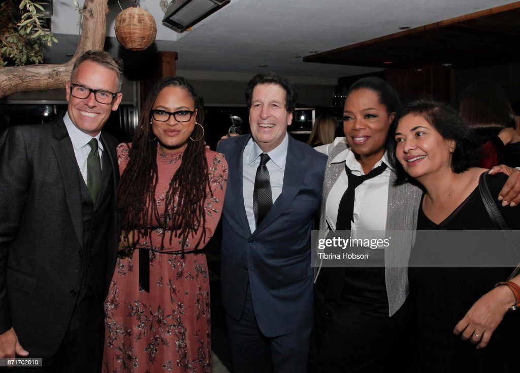 Erik Logan, Ava DuVernay, Peter Roth, Oprah Winfrey and Meher Tatna attend the taping of 'Queen Sugar After-Show' after party on November 7, 2017 in Los Angeles, California.