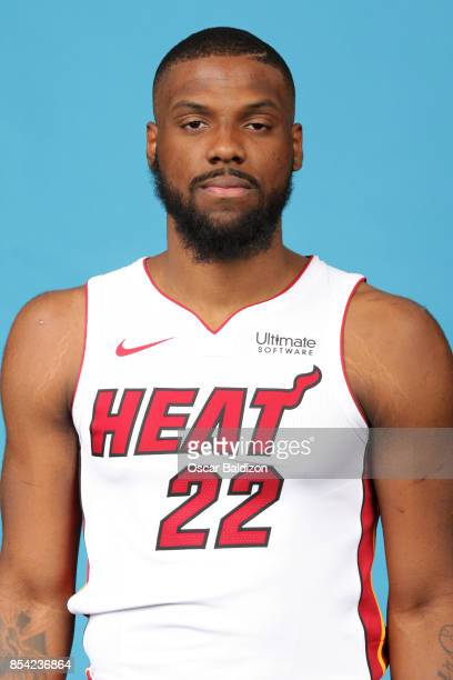 Erik McCree of the Miami Heat poses for a head shot at American Airlines Arena in Miami Florida on September 25 2017 NOTE TO USER User expressly...