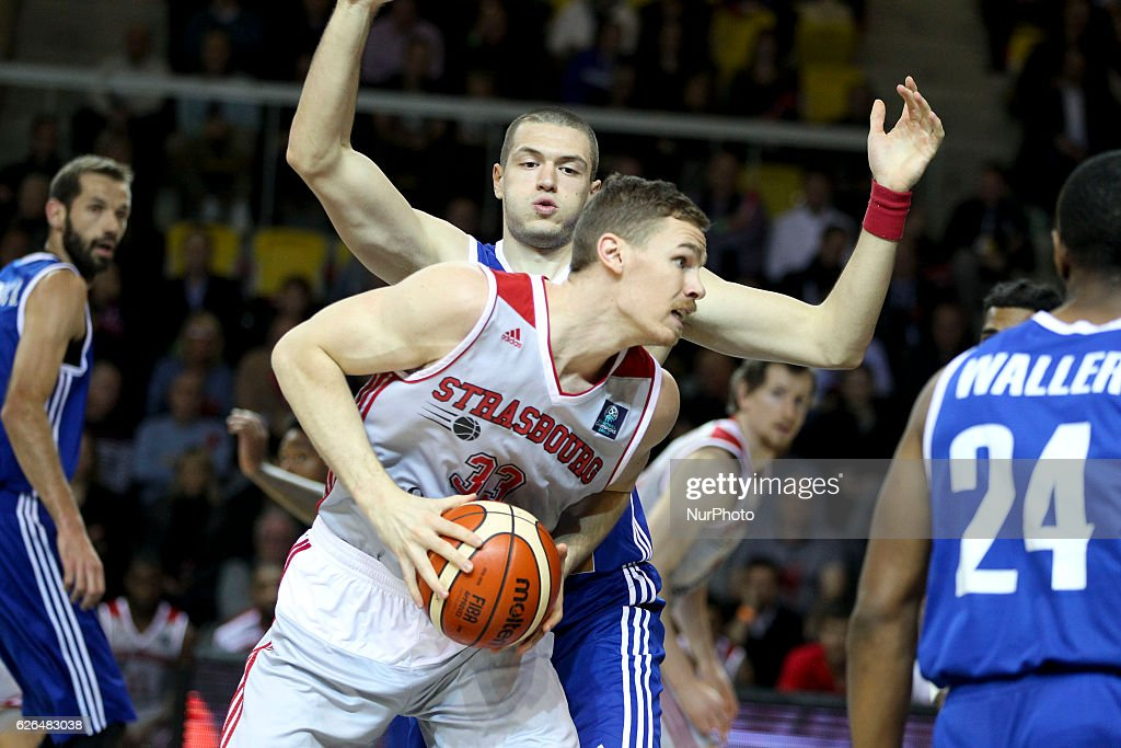 Erik Murphy 33 in action during SIG Strasbourg v KK Mornar Regular Season - Group D of Basketball Champions League in Strasbourg, France, on 29 November 2016.