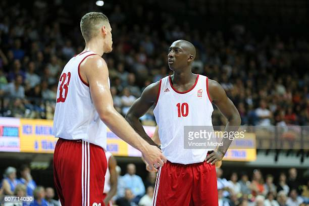 Erik Murphy and Pape Sy of Strasbourg during the Final match between Strasbourg and Gravelines Dunkerque at Tournament ProStars at Salle Arena Loire...