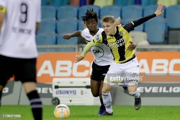 Erik Palmer Brown of NAC Breda Martin Odegaard of Vitesse during the Dutch Eredivisie match between Vitesse v NAC Breda at the GelreDome on March 2...