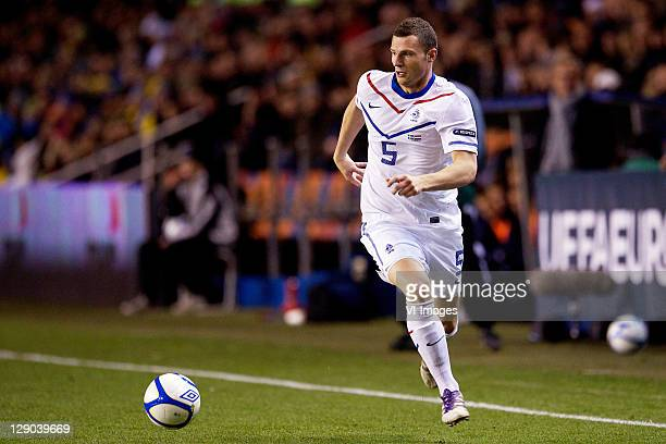 Erik Pieters of Holland during the EURO 2012 Qualifying match between Sweden and Netherlands at the Rasunda stadium on October 11, 2011 in Solna,...
