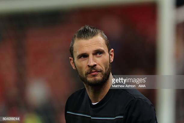 Erik Pieters of Stoke City during the Capital One Cup Semi Final First Leg between Stoke City and Liverpool at Britannia Stadium on January 5 2016 in...