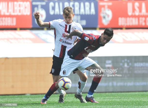 Erik Pulgar of Bologna FC in action during the Serie A match between Bologna FC and Cagliari at Stadio Renato Dall'Ara on March 10 2019 in Bologna...